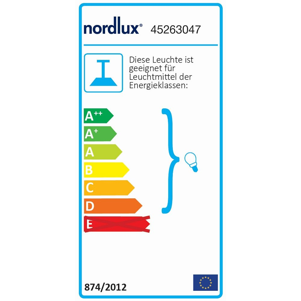 Nordlux Pendelleuchte ALRUN, E27, Rauch EEK    A++ -D 0f8c96