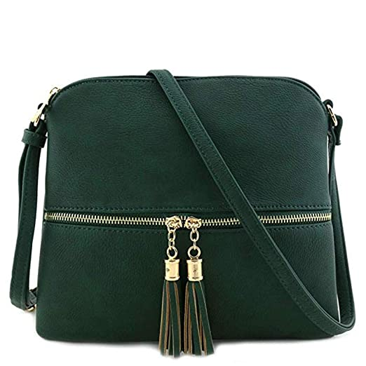Image Unavailable. Image not available for. Color  Youngh Women Leather  Shoulder Bags Pure Color Tassel ... 9619d270b
