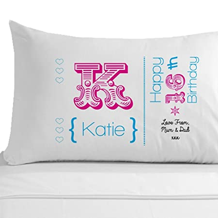 Sweet 16 Birthday Gift 100 Egyptian Cotton Pillowcase Personalised 16th