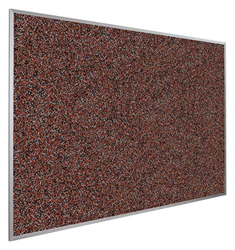 (Push-Pin Bulletin Board, Recycled Rubber, 48'H x 48'W, Red)