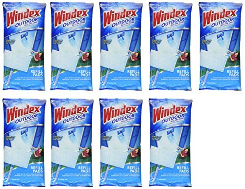Windex Outdoor All-In-One Pads Refills, 2 count (Pack of 9) by Windex