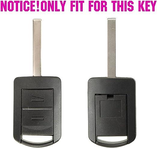Xukey 2 Tasten Silikon Schlüsselhülle Fernbedienung Gehäuse Für Opel Agila Corsa C Combo Meriva Tigra 1999 2010 Keyless Fob Shell Auto