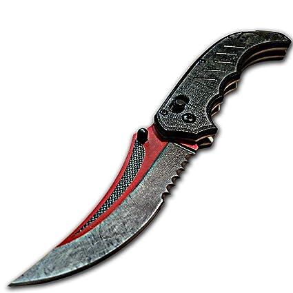Amazon.com: Custom csgo Flip cuchillo, Autotronic Final, G10 ...