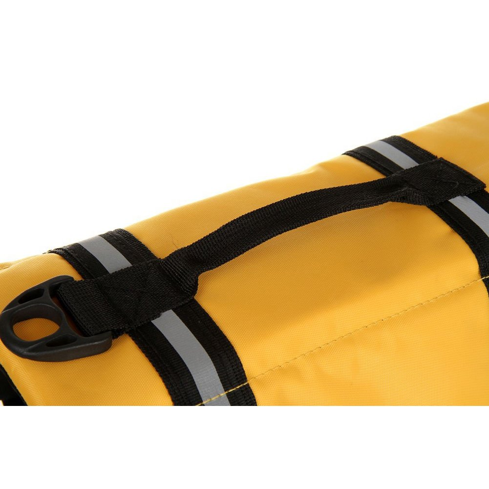 TESOON Pet Dog Doggy Life Jacket Puppy Preserver Lab Swimwear with Belt