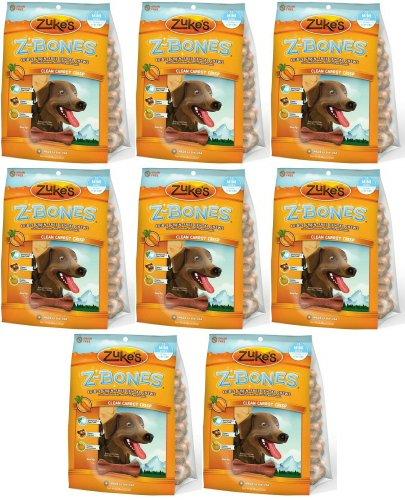 Zukes Z-Bones Edible Dental Chews Mini Carrot Crisp 144ct (8