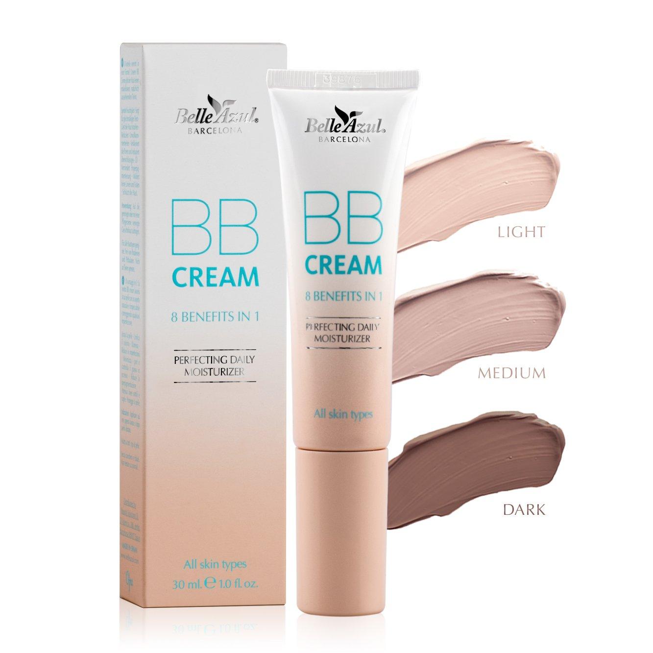 Belle Azul BB Cream 8-in-1 Beautifying Balm Moisturizer in Light 30 ml./ 1.0 fl.oz. Simon&Tom