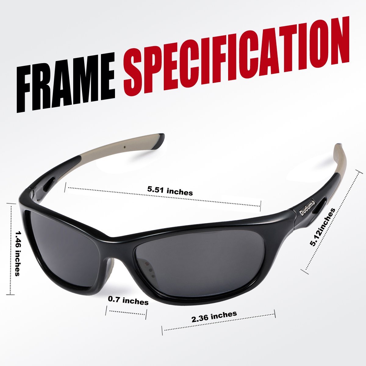 a07483edc1 Duduma Polarized Sports Sunglasses for Baseball Running Cycling Fishing Golf  Tr646 Durable Frame