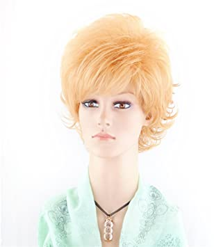 Short Curly Wigs for Women Full Head Fashion Orange Red Ginger Cosplay  Daily Life Party Wigs 8b6636f05
