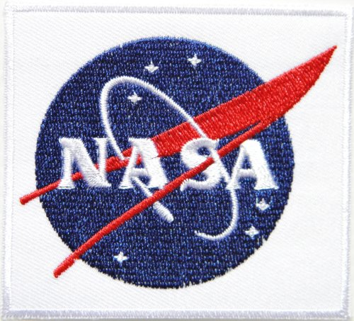 NASA USA Space Center Logo Flight Jacket T-shirt Uniform Patch Sew Iron on Embroidered Sign Badge Costume Nasa Flight Patches