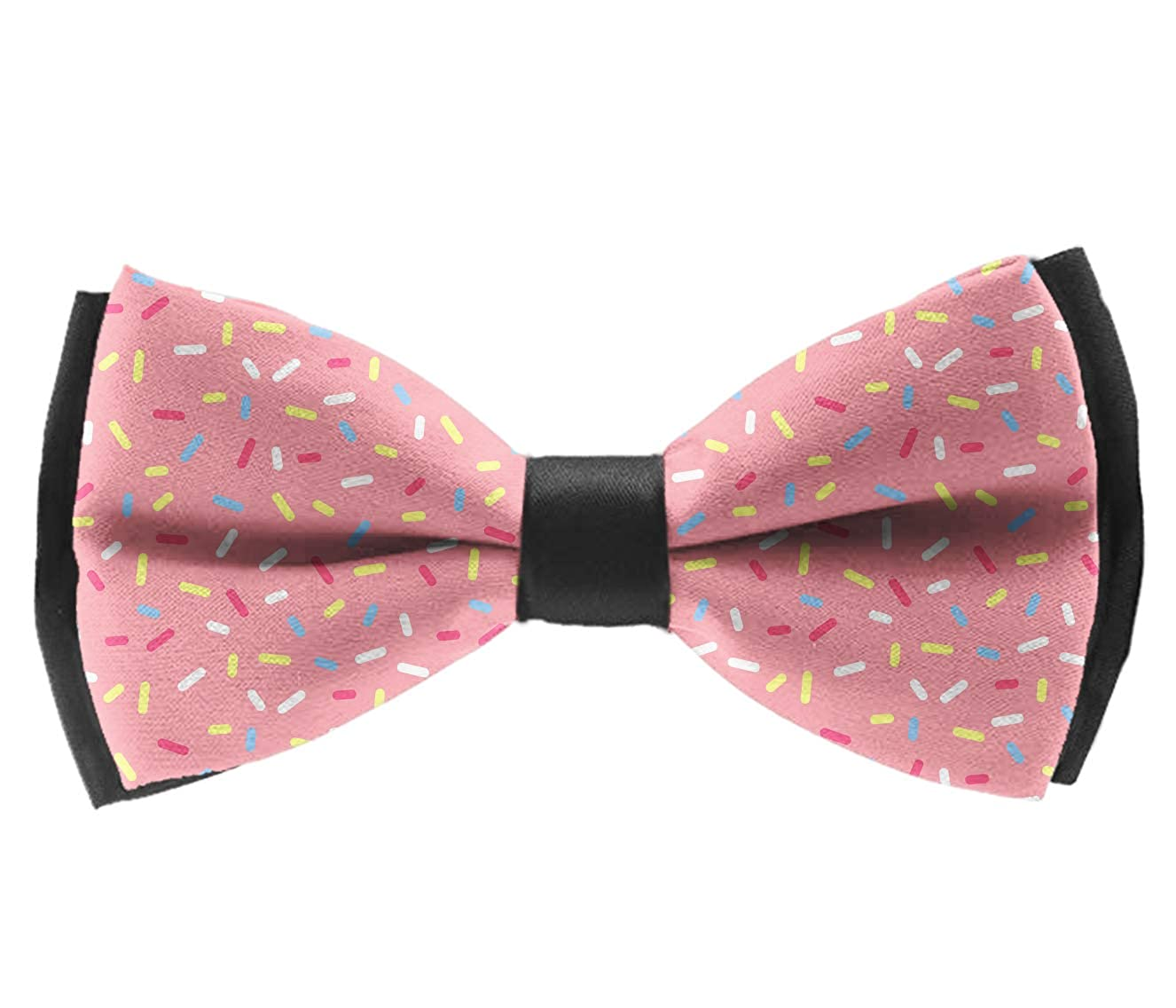 Satin Bowties Donut Seamless Pre-Tied Formal Neckwear Necktie