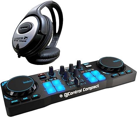 Mesa de DJ de Hercules con auriculares Keepdrum: Amazon.es ...