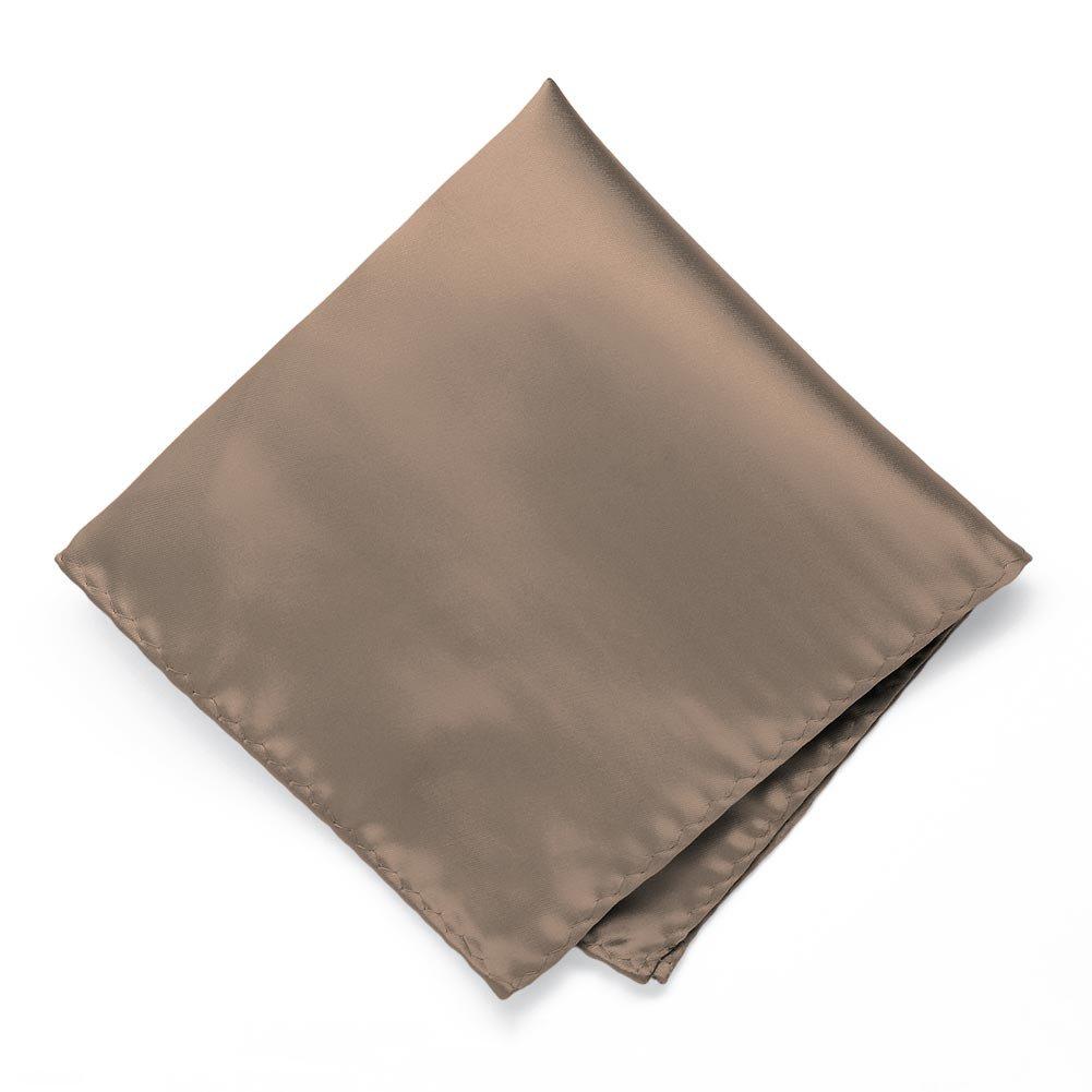 TieMart Latte Premium Pocket Square