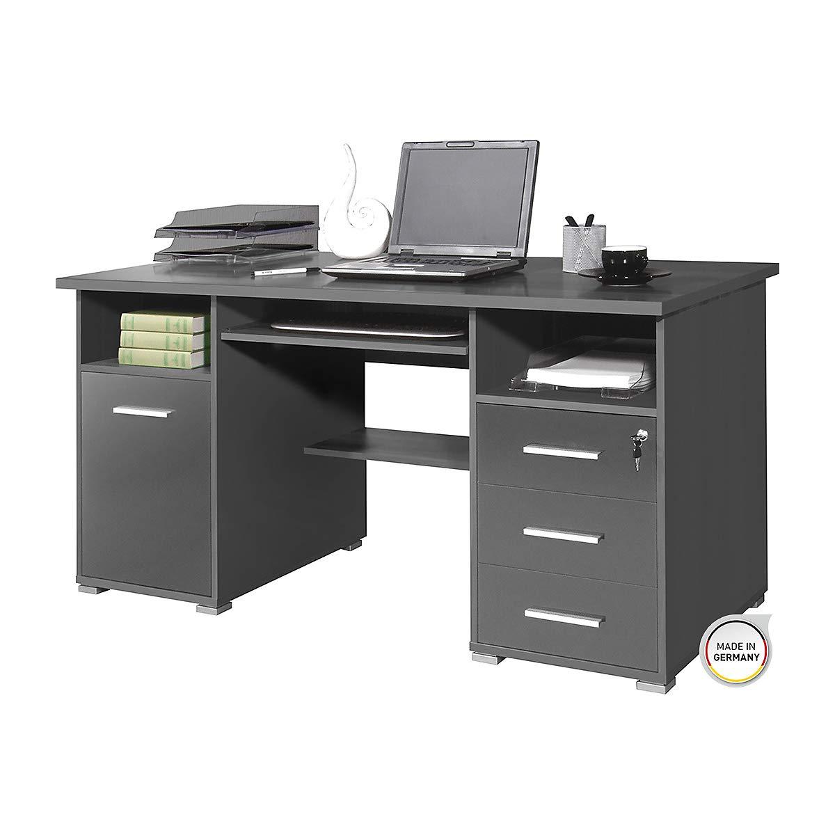 Certeo Computertisch In Anthrazit Tisch Mit Mit Mit Tastaturauszug