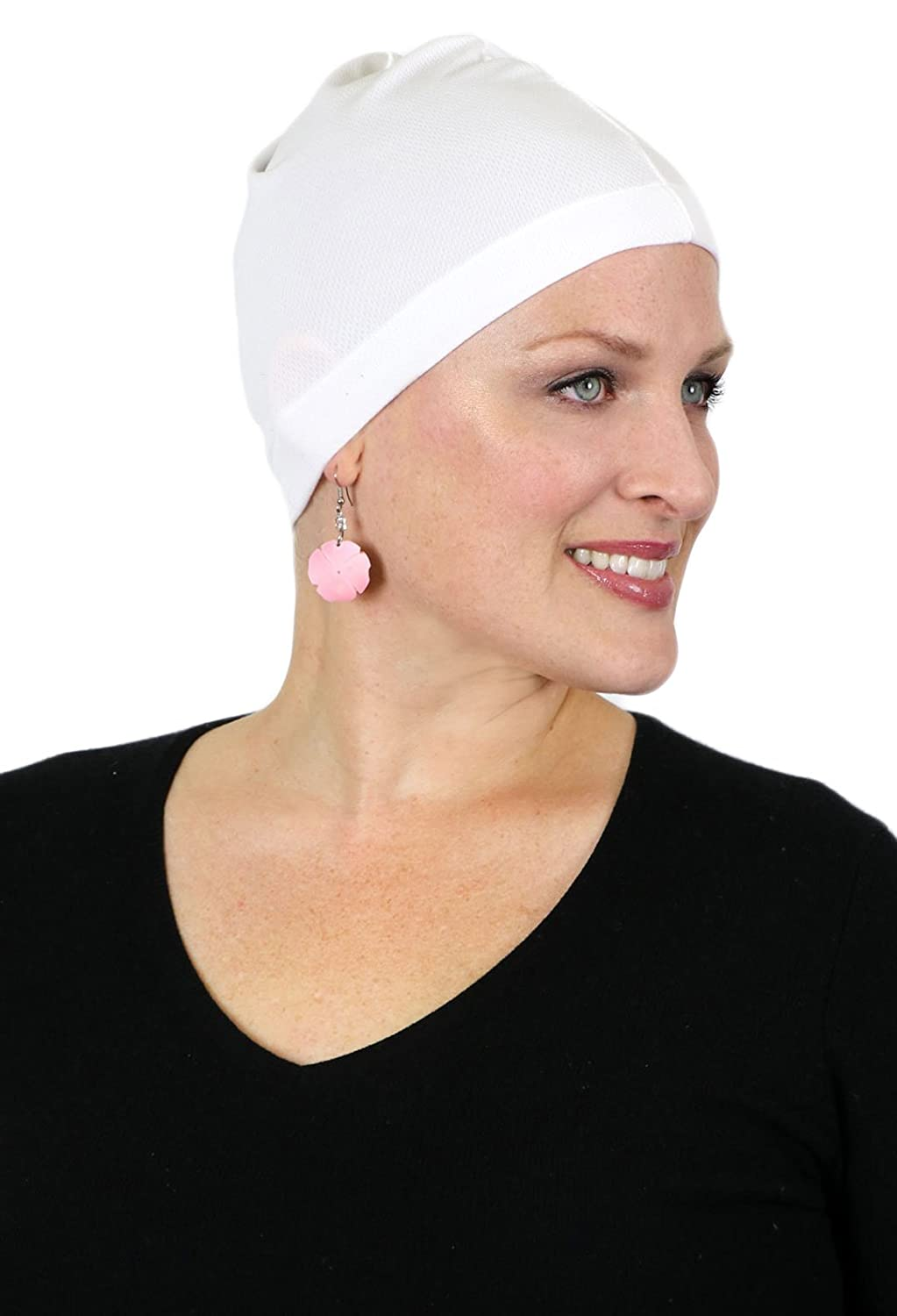 3e425c6c9aa Moisture Wicking Wig Cap Hat Liner Cool Wick Beanie Chemo Caps for Women ( Black) at Amazon Women s Clothing store