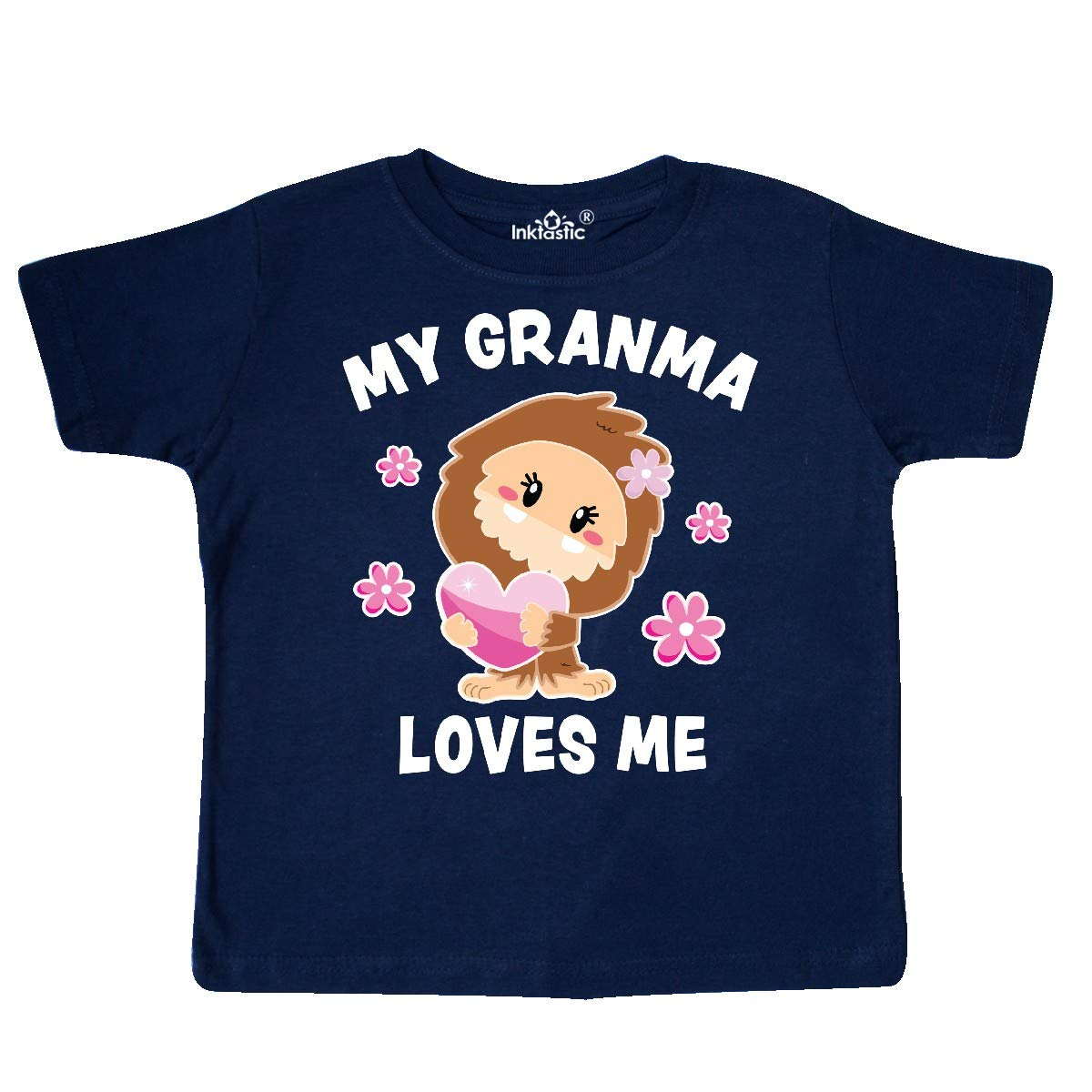 inktastic My Granma Loves Me with Bigfoot Toddler T-Shirt