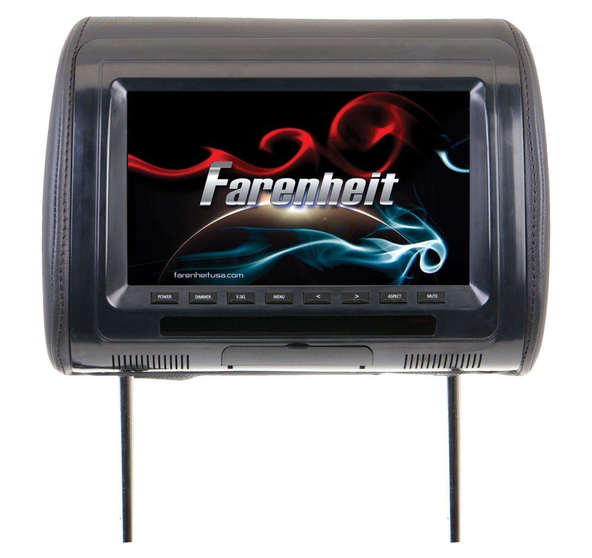 Farenheit HR-91CC Universal Replacement Headrest Preloaded w/ 9'' LCD