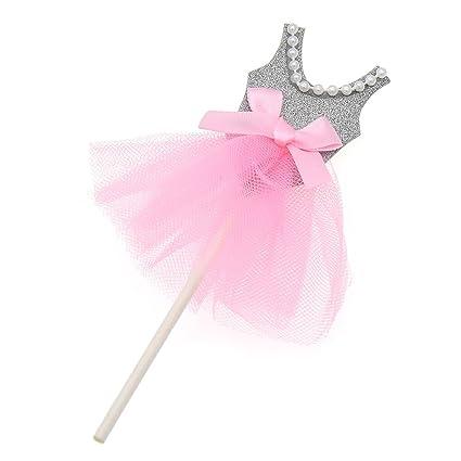 0ceca7459263 Amazon.com  Princess Skirt Cake Toppers Ballerina Dress Cupcake ...