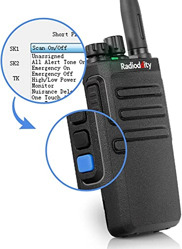 Radioddity GD-77S DMR Dual Band Two Way Radio Digital Analog VHF UHF Long Range Handheld Walkie Talkie 1024CH, Voice Prompt, Commercial Use, with Programming Cable, Original Earpiece and 2 Antennas