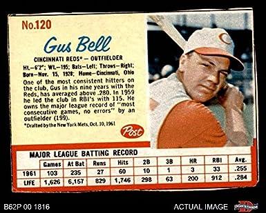 Amazoncom 1962 Post Cereal 120 Gus Bell Cincinnati Reds