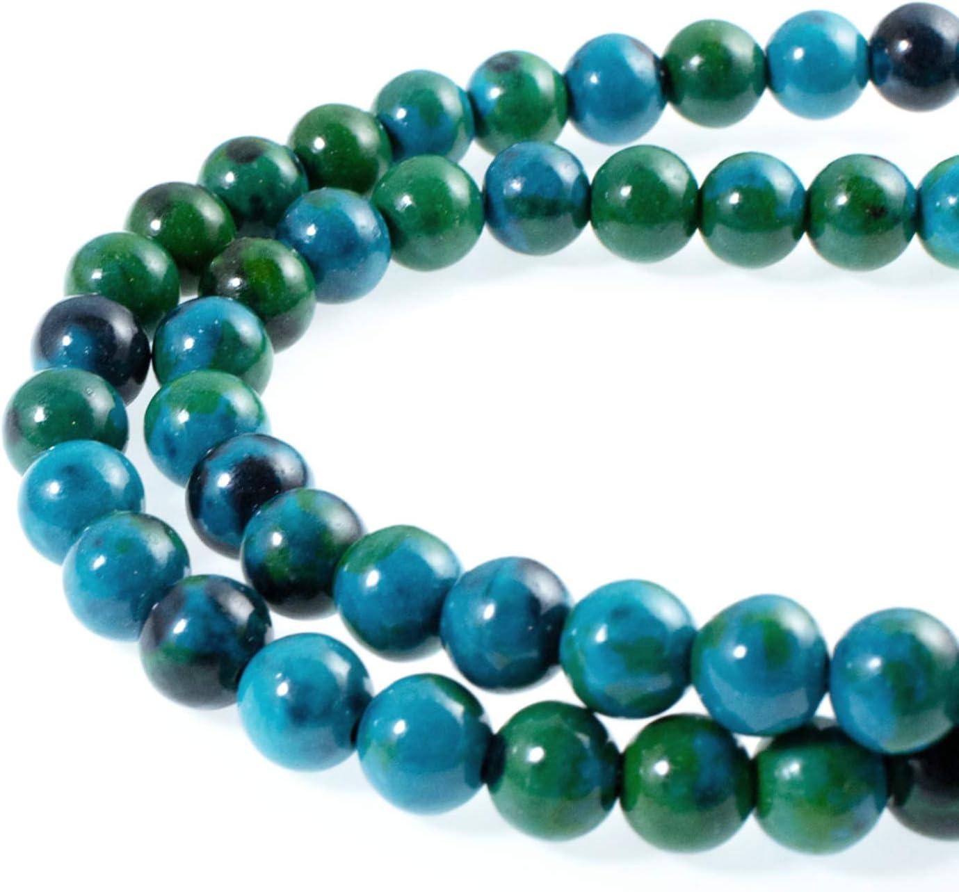 round stone azurite natural stone Round beads azurite stone. Pearl azurite chrysocolla azurite chrysocolla genuine gemstones
