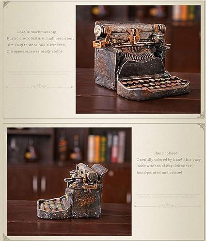 FayooChristmas Retro Vintage máquina de Escribir Piggy Bank Creativo Resina decoración Muebles Ventana Tiro apoyos Americano nostálgico decoración Suave: ...