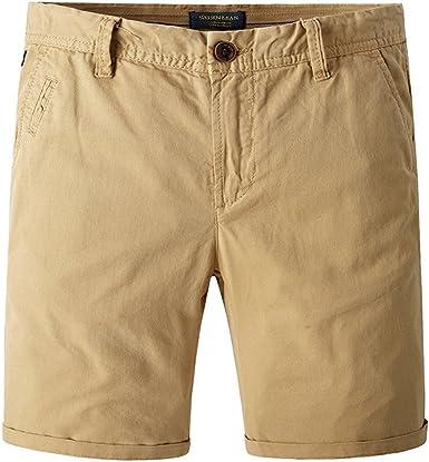 JINSHI Pantalones Cortos de Algodón para Hombre: Amazon.es: Ropa y ...