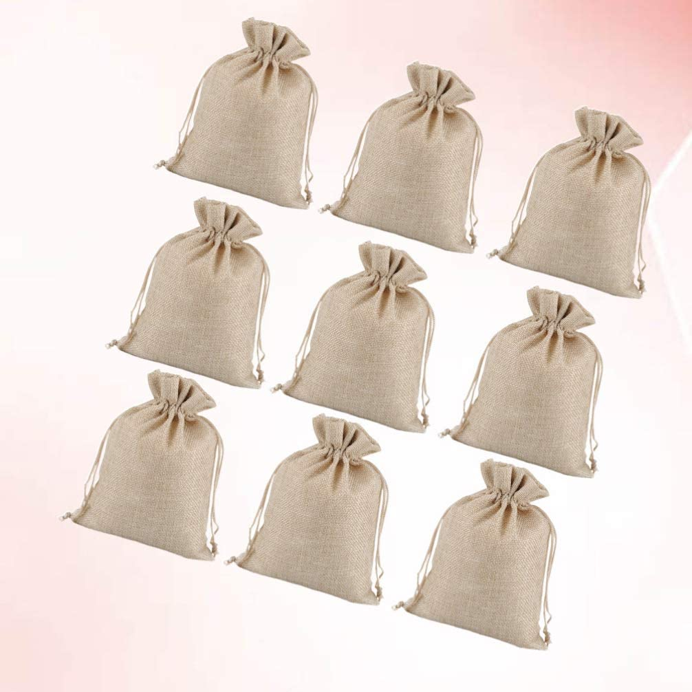 BESPORTBLE 15Pcs Sacs de Cordon en Toile de Jute Sac en Lin Mini Pochettes 7X9cm Faveur de F/ête de Mariage Bijoux Cadeau Sac Bonbons Doux Sacs de Rangement Beige