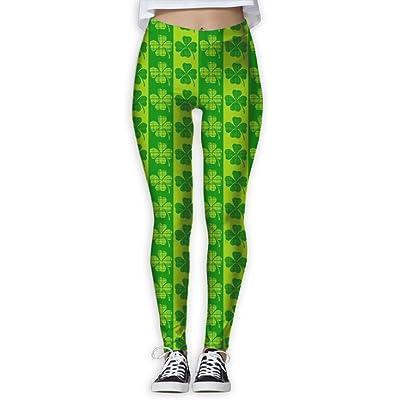 NUNOFOG ST Patrick's Day Women's Yoga Pants Workout Capris Lightweight Yoga Leggings