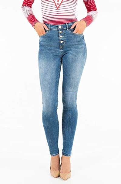 Guess JEANS EXPOSED BUTTON 32, GLITZY SPRING: Amazon.it