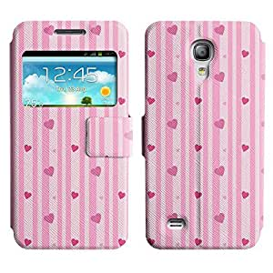 Be-Star Colorful Printed Design Slim PU Leather View Window Stand Flip Cover Case For Samsung Galaxy S4 mini / i9190 / i9192 ( Vertical Hearts ) Kimberly Kurzendoerfer