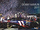 AUTOGRAPHED 2017 Denny Hamlin #11 FedEx Toyota Racing 2016 DAYTONA 500 WINNER (Joe Gibbs Team) Signed Collectible Picture 9X11 Inch NASCAR Hero Card Photo with COA