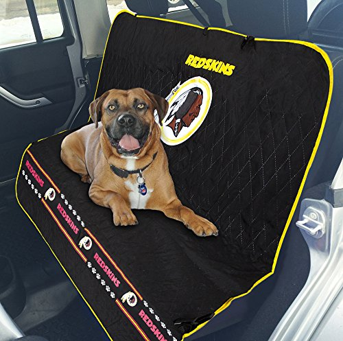 (Pets First NFL CAR SEAT Cover - Washington Redskins Waterproof, Non-Slip Best Football Licensed PET SEAT Cover for Dogs & Cats.)