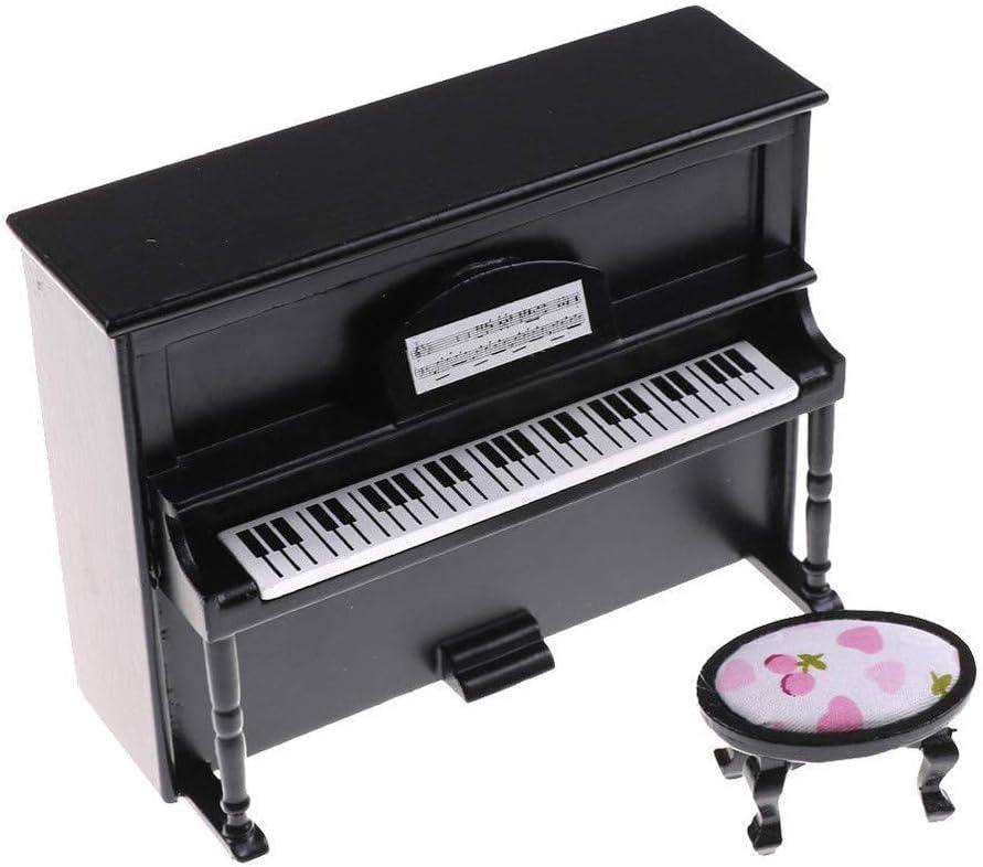 Dollhouse Miniature Piano Jouet boîte à musique décoration pour 1//8 poupées action figure