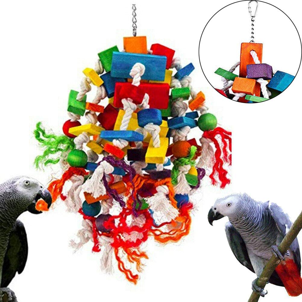 Wood Wonder Parrot Toy African Grey Amazon Macaw
