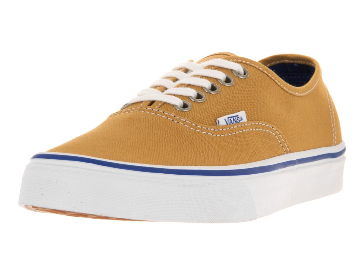 Vans Authentic, Zapatillas Unisex Adulto 6.5|ámbar Oro/Cierto Blanco