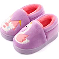 LACOFIA Pantofole Invernali da Bambino Ciabatte Peluche da casa Calde Antiscivolo per Bambini
