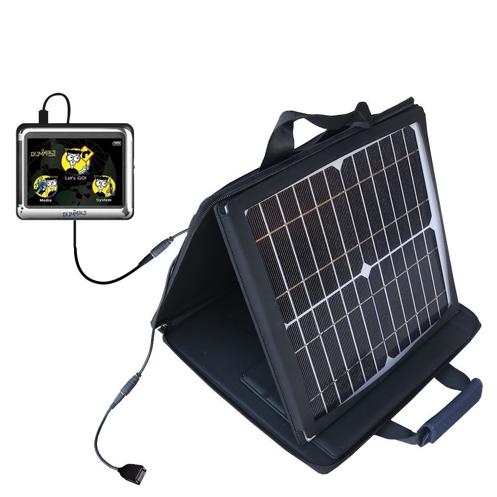 Gomadic SunVolt Powerful and Portable Solar Charger suitable for the Maylong FD-350 GPS For Dummies - Incredible charge speeds for up to two devices by Gomadic