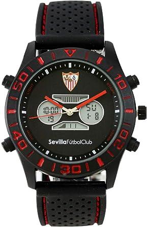Sevilla FC - Reloj Pulsera de Caballero: Amazon.es: Ropa y accesorios