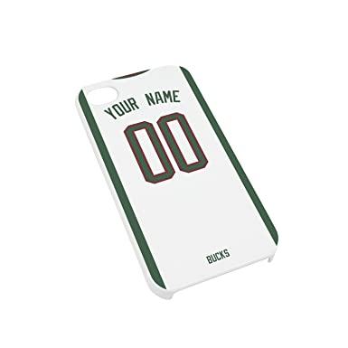 Milwaukee Bucks don baloncesto de la NBA camiseta personalizable del/caso/para iPhone 4