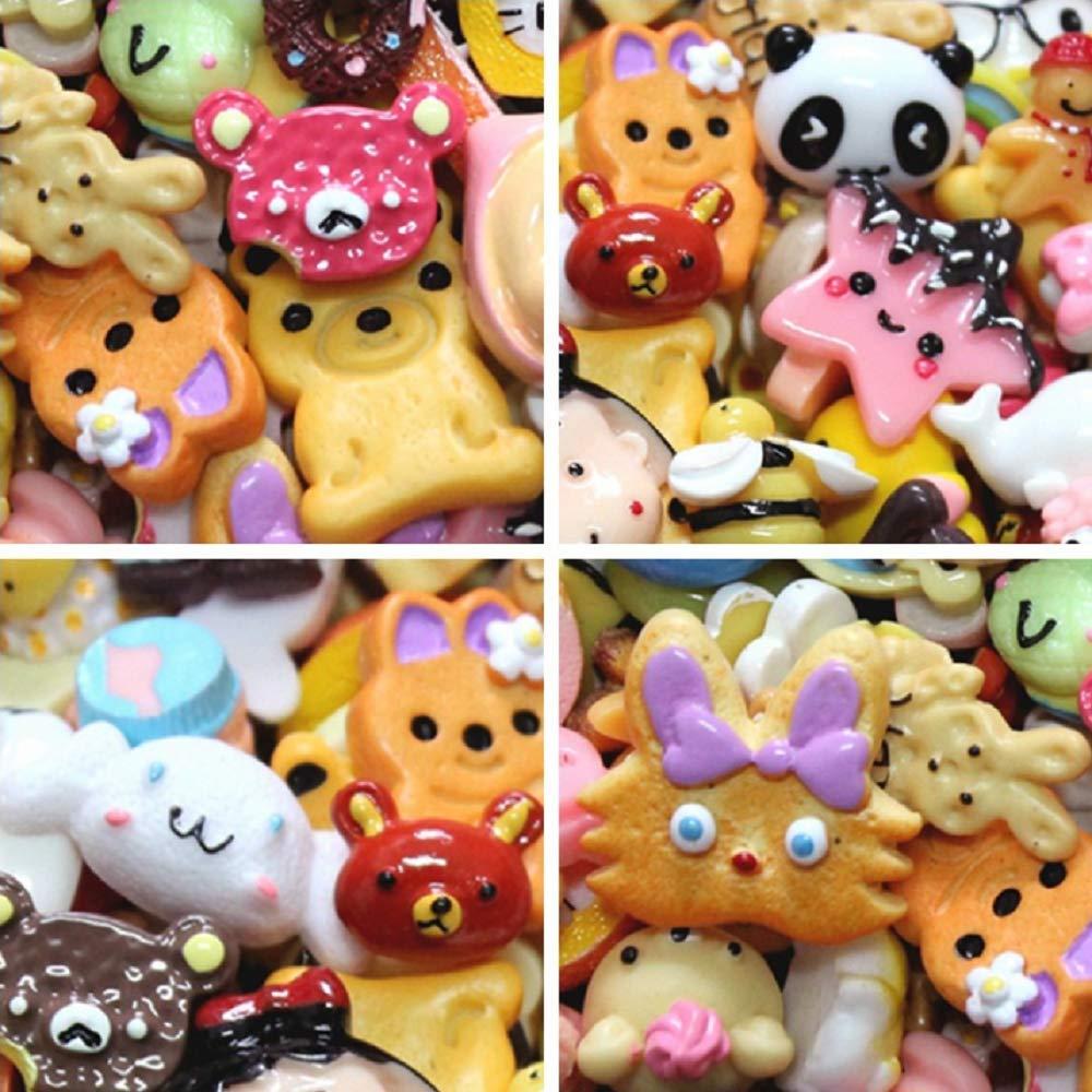 Bleu ILOVE DIY Lot DE 20 Jeu dimitation Cuisine Mini Kawaii Gâteau Biscuit Alimentaire Donuts Nourriture Jouet Enfant Yong Li Factory