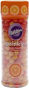 Wilton 710-0443 Sherbet-Flavored Sugar Pearl Sprinkles, Orange