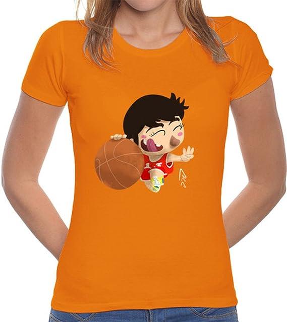 LaTostadora Camiseta Chicho terremoto - Camiseta mujer corte clásico Naranja Talla L: Amazon.es: Ropa y accesorios