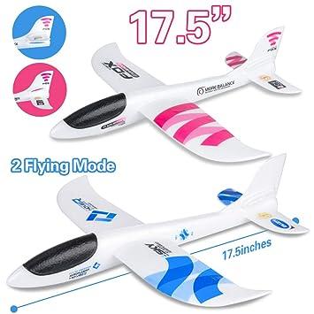 Amazon.com: BooTaa - Juego de 2 aviones voladores: Toys & Games