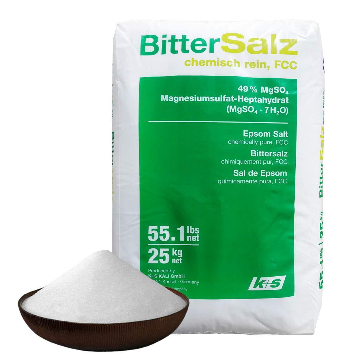 Sal de Epsom. 25 kg la bolsa. 100% natural. Grado de calidad ...