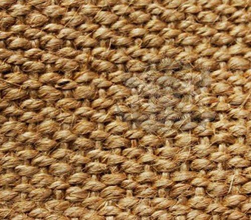 (Burlap Fabric Natural Fiber BASKET Weave Carpet / 62