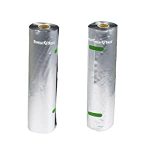 "ShieldNSeal Vacuum Seal Rolls, All Metallic, 11"" x 19.5', SNS 1800"