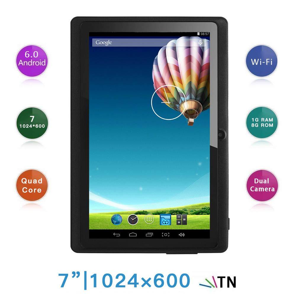 Haehne 7 Pollici Tablet PC, Google Android 6.0 Quad Core, 1GB RAM 8GB ROM, Doppia Fotocamera 2.0MP+0.3MP, 1024x600 HD Schermo, WiFi, Bluetooth, Nero Shenzhen Haina Tianyuan Ecommerce Co. Ltd. HN-PC-NQ8
