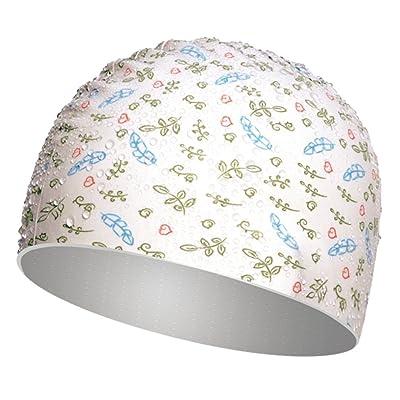 Chapeau de bain imperméable à l'eau de chapeau de bain imperméable confortable de longs de chapeau de natation de chapeau de natation