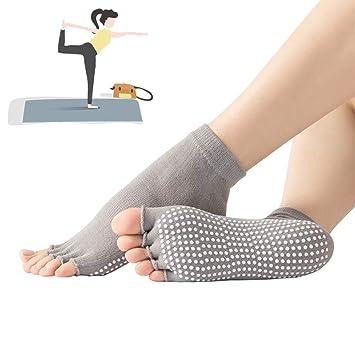 Grist CC 3 Pares Calcetines Pilates Yoga, Antideslizantes ...
