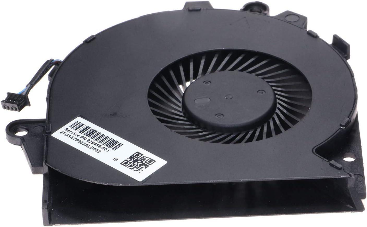 HP Omen 15-5150ne Power4Laptops Replacement Laptop Fan for Left Side Processor for HP OMEN 15-5116TX HP Omen 15-5117TX HP Omen 15-5120NR HP Omen 15-5118TX